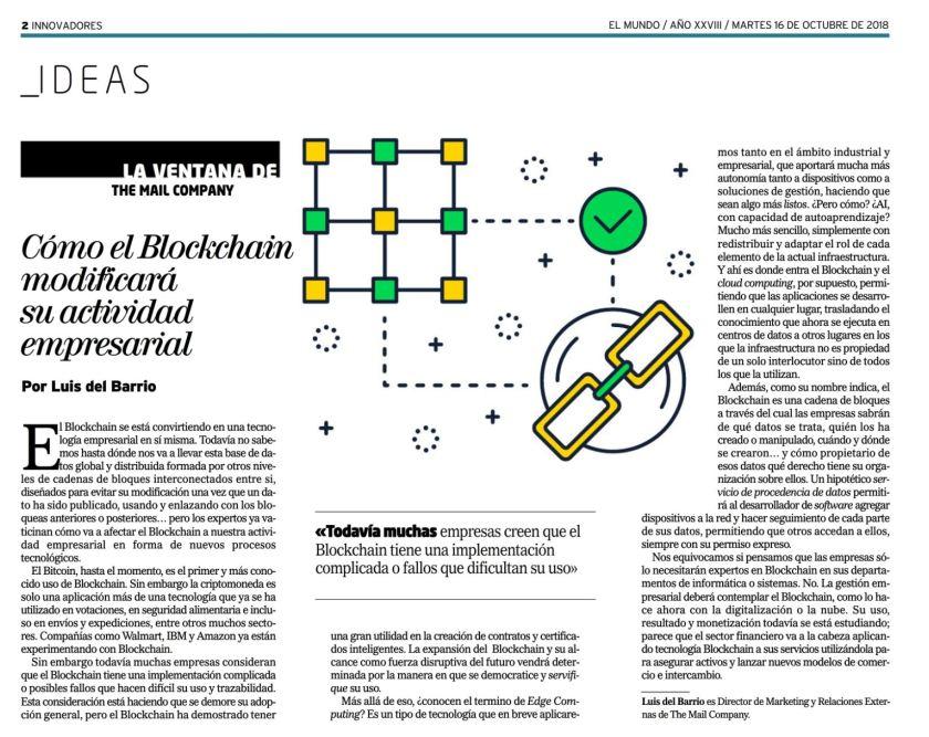 Blockchain EL MUNDO innovadores 16_10_18